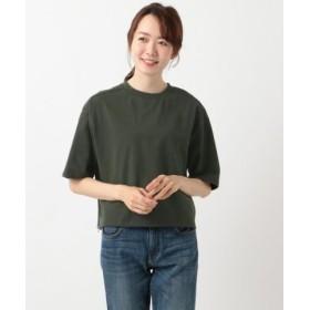 (SHARE PARK/シェアパーク)【選べる6色】コットンサイドZIP Tシャツ/レディース ダークグリーン系