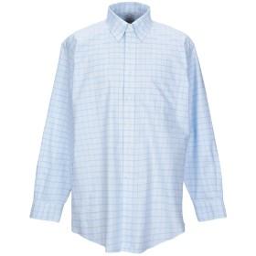 《期間限定 セール開催中》BROOKS BROTHERS メンズ シャツ スカイブルー 17 スーピマ 100%