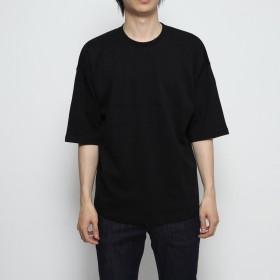 スタイルブロック STYLEBLOCK 綿ポンチ5分袖ビッグTシャツ (ブラック)