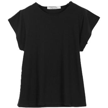 コウベレタス KOBE LETTUCE シルケット加工フレンチスリーブTシャツ [C3692] (ブラック)