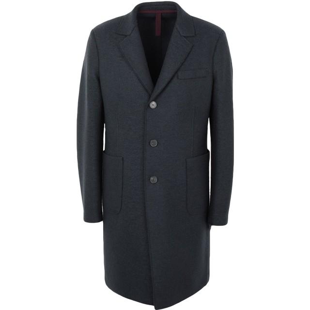《期間限定セール開催中!》HARRIS WHARF LONDON メンズ コート 鉛色 50 バージンウール 100%
