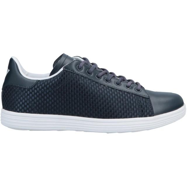 《セール開催中》ARMANI JEANS メンズ スニーカー&テニスシューズ(ローカット) ダークブルー 45 革 / 紡績繊維