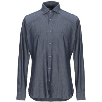 《期間限定セール開催中!》XACUS メンズ デニムシャツ ブルー 37 コットン 100%