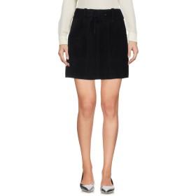 《期間限定 セール開催中》ANNA SUI レディース ミニスカート ブラック 8 柔らかめの牛革 100%