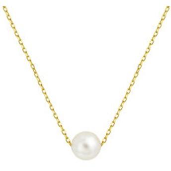 【Milluflora:アクセサリー】6月誕生石 シルバー イエローゴールドメッキ あこや真珠 ネックレス