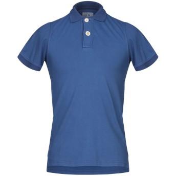《期間限定セール開催中!》FRADI メンズ ポロシャツ ダークブルー S コットン 95% / ポリウレタン 5%