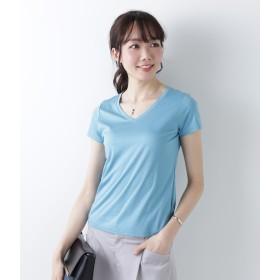 NEWYORKER L 【日本製】おとなTシャツ Vネック Tシャツ・カットソー,サックス(73)