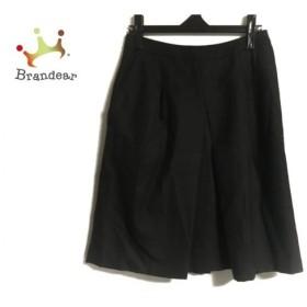マーガレットハウエル MargaretHowell スカート サイズ2 M レディース 黒 プリーツ   スペシャル特価 20190906