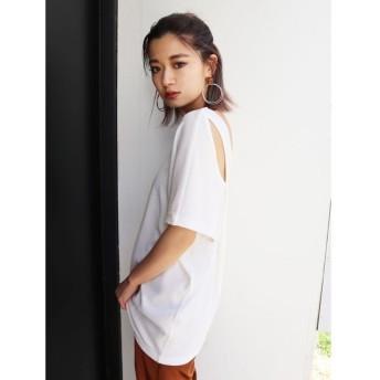 EMODA エモダ バックカットアウトTシャツ レディース
