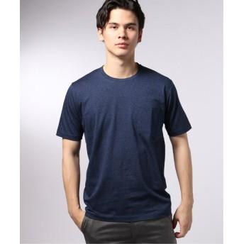EDIFICE シルケットテンジク クルーネック Tシャツ ブルー XL