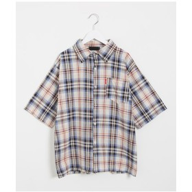シャツ - NOWiSTYLE SONYUNARA(ソニョナラ)五分袖チェックシャツ韓国 韓国ファッション 半袖シャツ チェック柄 シャツ 半袖 トップス 夏チェックシャツ カジュアル 韓国ブラウス ストリートファッション