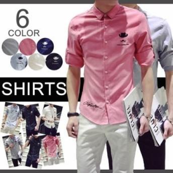 7分丈シャツ メンズ カジュアルシャツ カッターシャツ◆M/L/XL/XXL/3XLブロードレギュラーシャツ 父の日