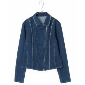 HIROKO BIS 【洗濯機で洗える】デニム刺繍ジャケット その他 フォーマル,ネイビー