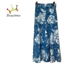 スキャパ Scapa ロングスカート サイズ38 L レディース 美品 ブルー×白 花柄   スペシャル特価 20190913