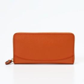 トプカピ TOPKAPI 角シボ型押し・ラウンドファスナー長財布 (オレンジ)