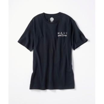 MAUI & Sons バックロゴプリントTシャツ メンズ ブラック