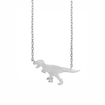 【Milluflora:アクセサリー】【WEB限定商品】シルバー ロジウムメッキ ダイヤモンド ティラノサウルス ネックレス