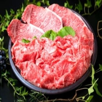 (まるごと糸島)A4ランク糸島黒毛和牛サーロインステーキ、しゃぶしゃぶ盛り合わせ1.1kg
