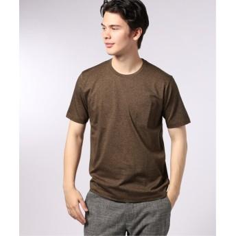 EDIFICE シルケットテンジク クルーネック Tシャツ ブラウン B S