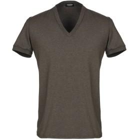 《期間限定セール開催中!》DSQUARED2 メンズ アンダーTシャツ ミリタリーグリーン S コットン 95% / ポリウレタン 5%