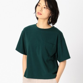 コムサイズム COMME CA ISM DIC 〜日本の伝統色〜 ポケット付 Tシャツ (グリーン)