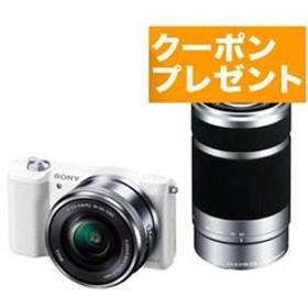 ミラーレス一眼カメラ α5100(アルファ5100) ダブルズームレンズキット ホワイト ILCE-5100Y-W