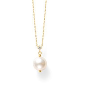 【Milluflora:アクセサリー】6月誕生石 K18 イエローゴールド あこや真珠 ネックレス