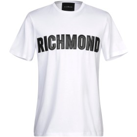 《セール開催中》JOHN RICHMOND メンズ T シャツ ホワイト L コットン 100%