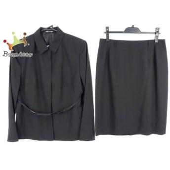 コムサデモード COMME CA DU MODE スカートスーツ サイズ15 L レディース 黒 スペシャル特価 20190913