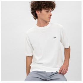 ラコステ 成形横編みニットTシャツ メンズ オフホワイト 3(日本サイズM) 【LACOSTE】
