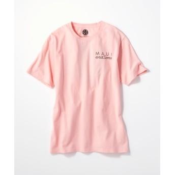 MAUI & Sons バックロゴプリントTシャツ メンズ ピンク