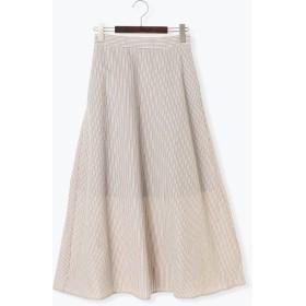 【6,000円(税込)以上のお買物で全国送料無料。】サッカーストライプAラインスカート