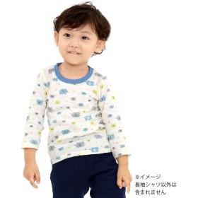 【クリアランス】ベビーザらス限定 2枚組 長袖シャツ肌着(ネイビー×90cm)