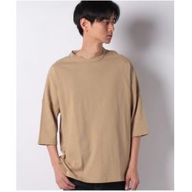 SPENDY'S Store DISCUSドロップショルダーTシャツ(ワイドシルエット/ビッグシルエット)(ベージュ)