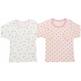 【クリアランス】ベビーザらス限定 2枚組 長袖シャツ肌着(ピンク×80cm)