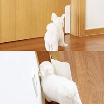 Yogipet Pet Door 犬 猫 ペットドア 工事不要 取付型 ペット用 半自動 ドア 門 犬猫 出入り 口 自由自在 ドアに付着するだけでO