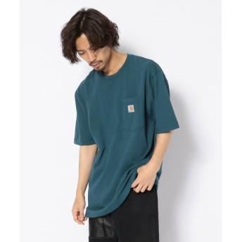 アンカットバウンド carhartt(カーハート) Workwear Pocket SS TーShirts メンズ BLUE S 【UNCUT BOUND】