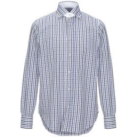 《期間限定セール開催中!》UNGARO メンズ シャツ ブルー 38 コットン 100%