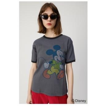 moussy VINTAGEMICKEYRINGERTシャツ ライトブラック