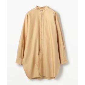 TOMORROWLAND トゥモローランド コットンバックサテン スタンドカラーロングシャツ