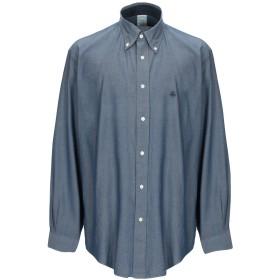 《セール開催中》BROOKS BROTHERS メンズ シャツ ダークブルー XS コットン 100%