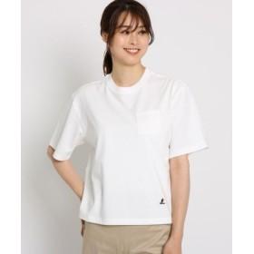 (Dessin/デッサン)【洗える】【Lサイズあり】【汗染み軽減加工】COOLMAX 胸ポケTシャツ/レディース ホワイト(001)