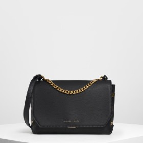 CHARLES&KEITH Chain Handle Shoulder Bag