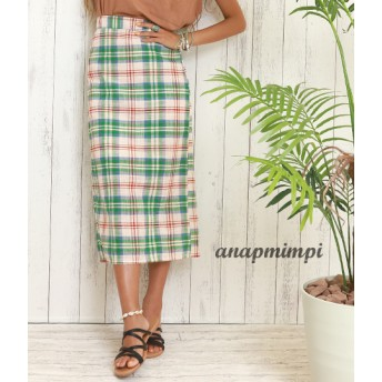 【セール開催中】ANAP(アナップ)チェックタイトスカート