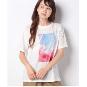 ehka sopo 転写プリントTシャツ(オフ)【返品不可商品】