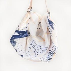 Mountain Blossom Cream Furoshiki Bag