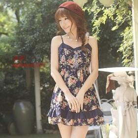 レディース激安 新作 新品 キャミワンピース かわいい系ファッション お嬢様ファッション ふんわり かわいい スタイル 花柄 安い