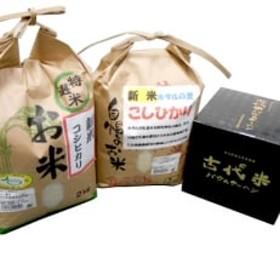 【平成30年産】芝山町産コシヒカリ2kg(精米)2袋+古代米バウムクーヘン