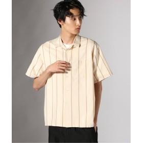 【50%OFF】 ジャーナルスタンダード (ve)INDIA C/SI ストライプ オープンカラーシャツ メンズ ナチュラル S 【JOURNAL STANDARD】 【セール開催中】