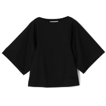 ESTNATION / コットンジャージーハンカチスリーブカットソー ブラック/38(エストネーション)◆レディース Tシャツ/カットソー